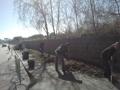 Operazioni di pulizia in Via Fitto eseguita dai Rangers per l'Ambiente in data 09.03.2013
