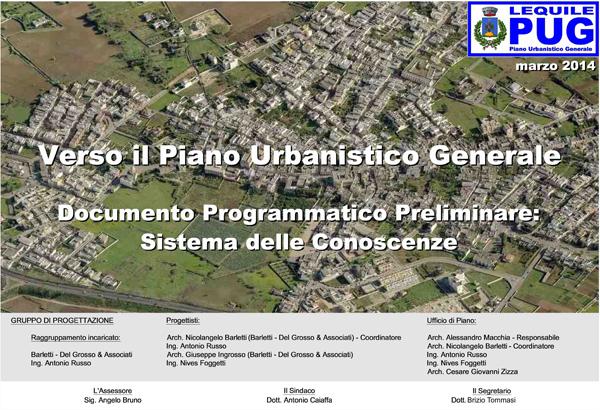 Verso il Piano Urbanistico Generale