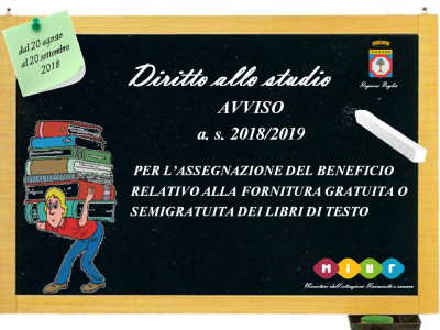 Regione Puglia: Proroga Fornitura di libri di testo delle scuole secondarie di I e II grado per l'a.s. 2018/2019