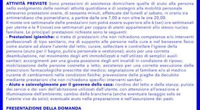 Cure domiciliari in favore di persone anziane non autosufficienti e disabili residenti nei comuni facenti parte dell'Ambito Territoriale di Lecce
