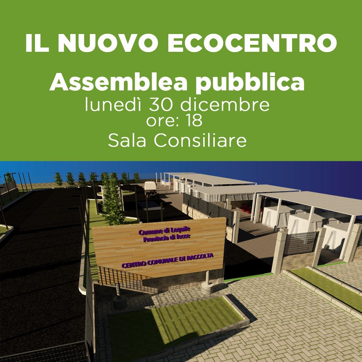 Comune Di Lequilenuovo Ecocentro Assemblea Pubblica Lunedì