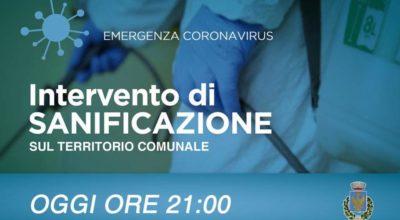 Avviso di sanificazione del territorio comunale di Lequile ore 21.00 del 14/03/2020 a contrastare la diffusione del Covid-19
