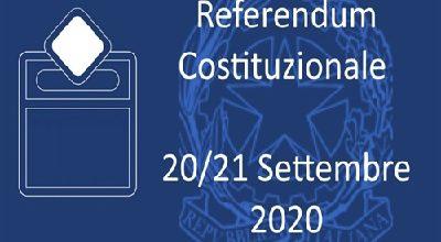 Referendum costituzionale 20 e 21 settembre 2020