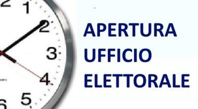 Avviso ai Cittadini orari di apertura Ufficio Elettorale a seguito delle consultazioni elettorali indette (Referendum e Regionali) per i giorni 20 e 21 settembre