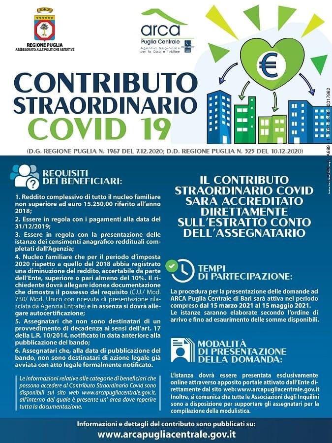 Contributo straordinario COVID 19